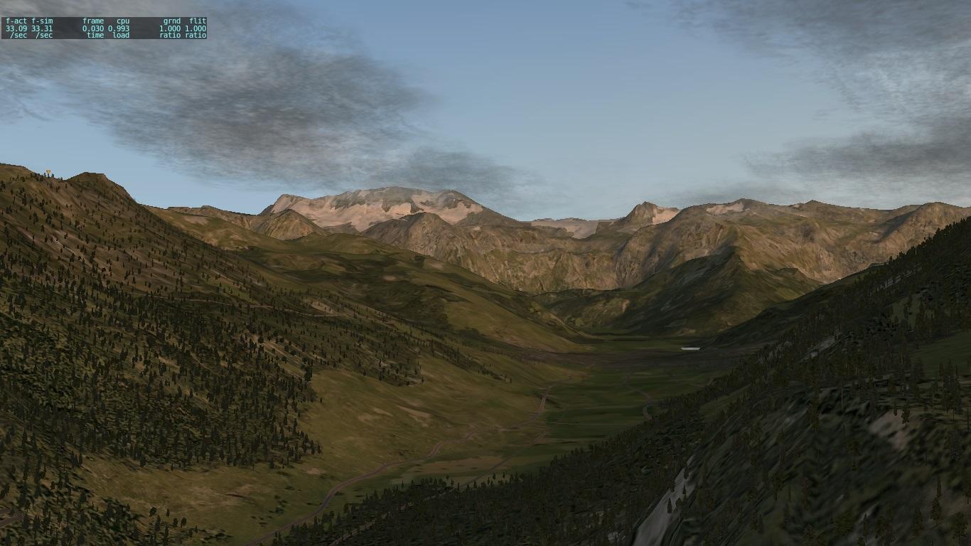 瑞士的山谷