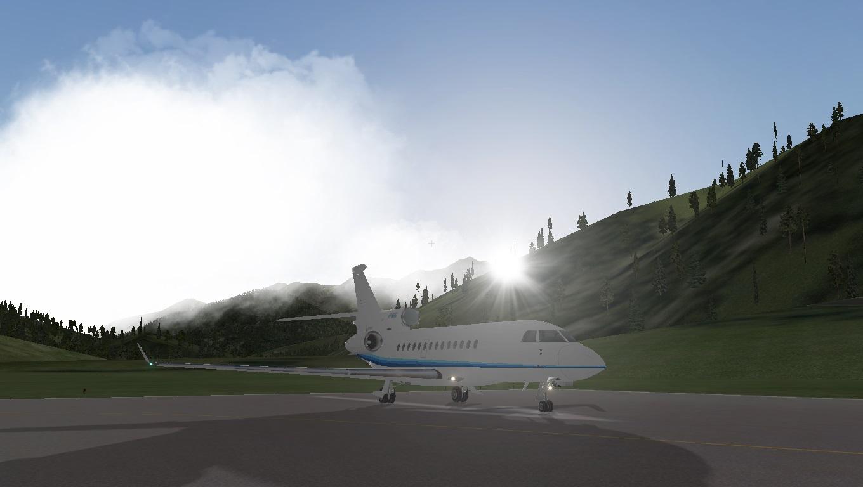 Falcon 7X在瑞士某机场